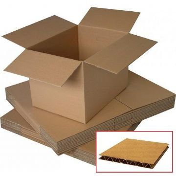 Single Wall Cardboard Box<br>Size: 406x356x203mm Multi-Depth<br>Pack of 25